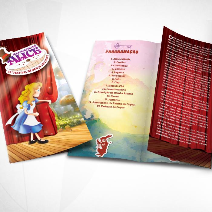 Folder de programação do espetáculo.