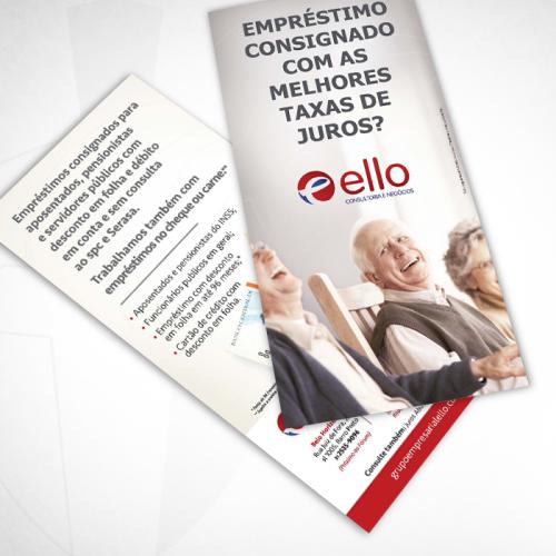 Flyer Ello - Empréstimo consignado.
