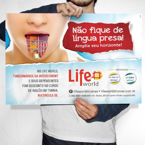 Cartaz A3 Life World